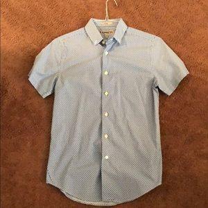 Express mens short sleeve button up